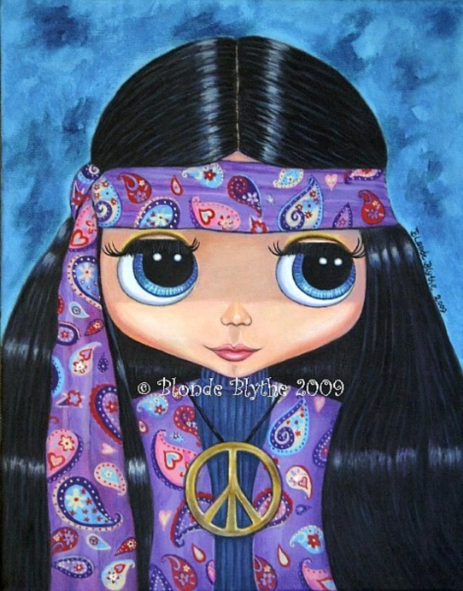 """Paisley Hippie Blythe Doll"" by Blonde Blythe"