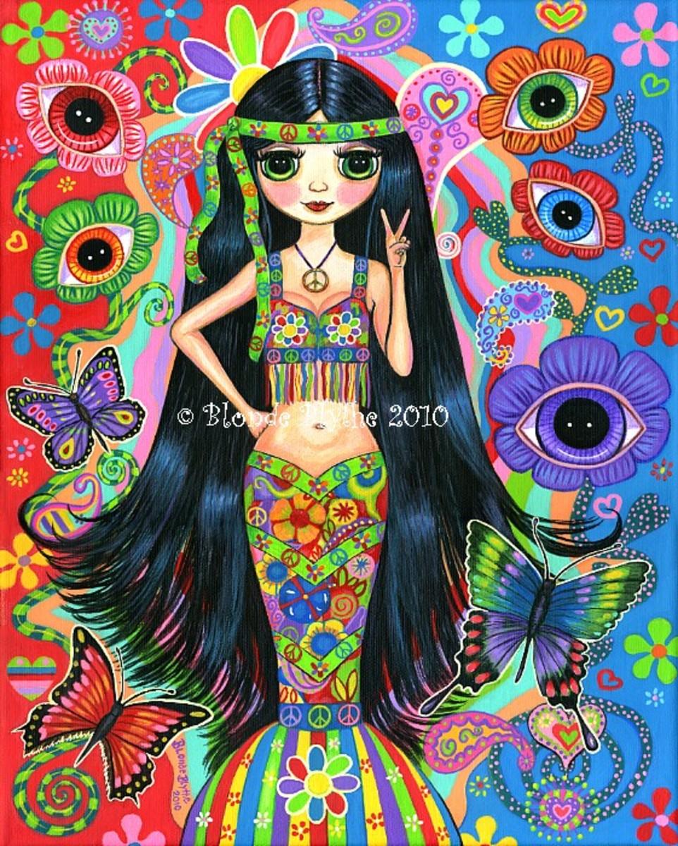 """""""Hippie Girl Mermaid"""" by Blonde Blythe"""