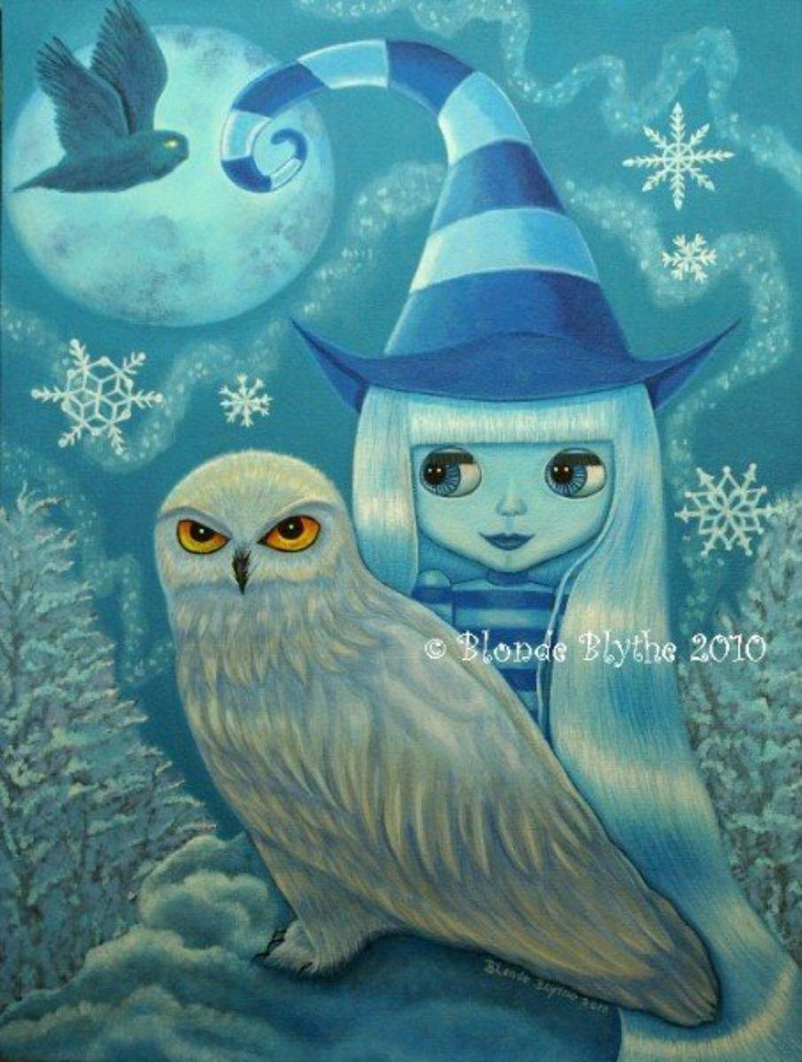 """Snowy Owl Witch"" by Blonde Blythe 2010"