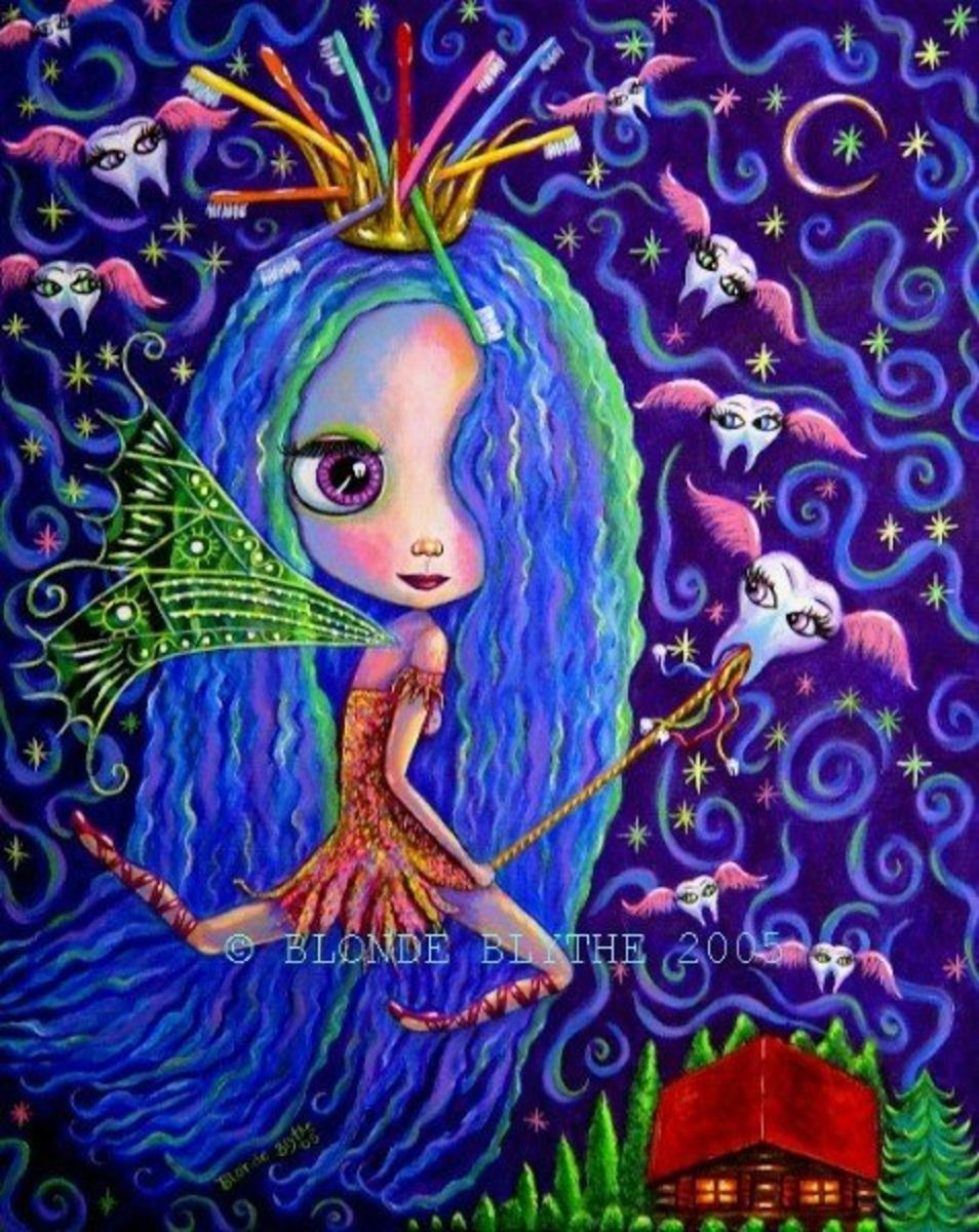 """""""Tooth Fairy Blythe"""" by Blonde Blythe"""
