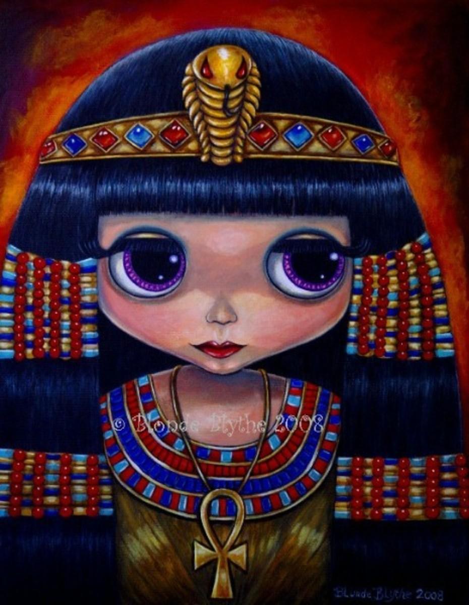 """""""Cleopatra Blythe Doll"""" by Blonde Blythe"""