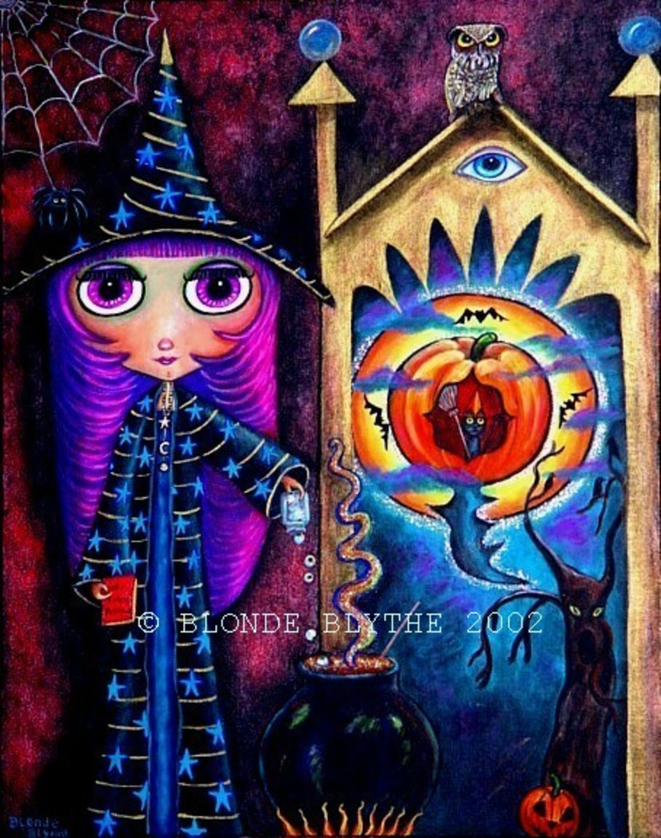 """Halloween Blythe and the Magic Window"" by Blonde Blythe"