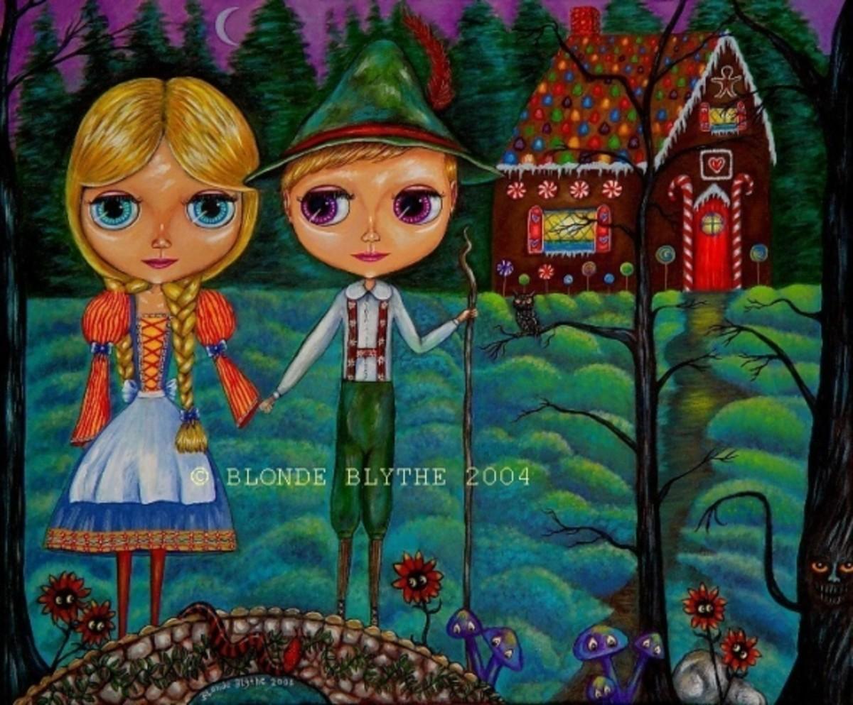 """Hansel & Gretel Blythe Dolls"" by Blonde Blythe 2004"