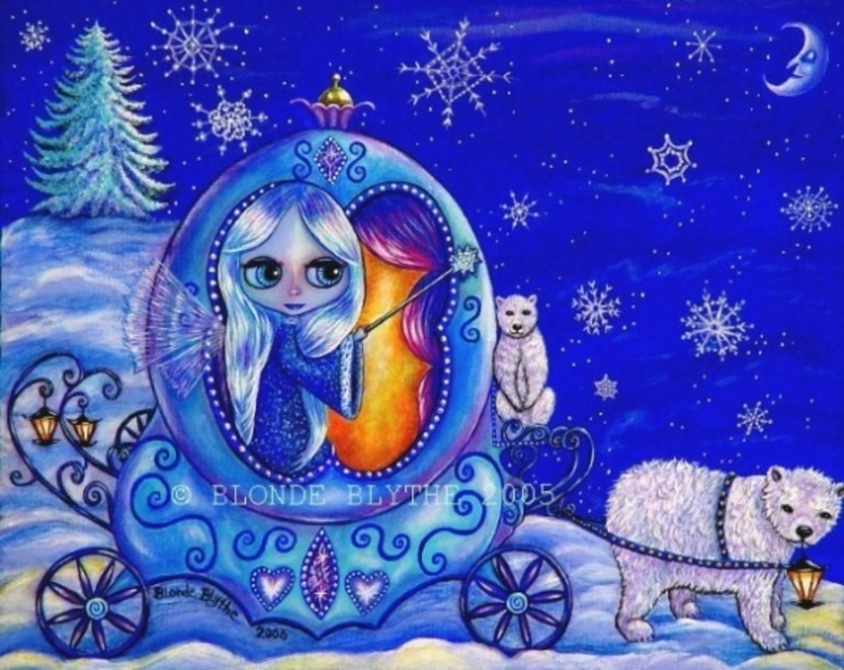 """Winter Carriage Ride"" by Blonde Blythe"