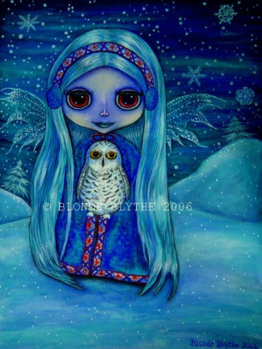 """Snowy Owl Fairy"" by Blonde Blythe"