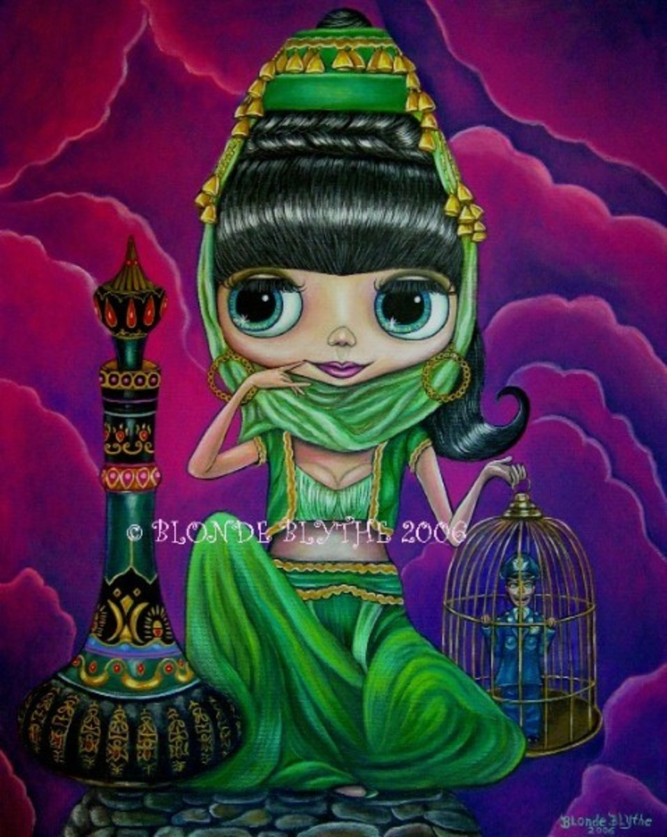 """Evil Green Jeannie"" by Blonde Blythe"