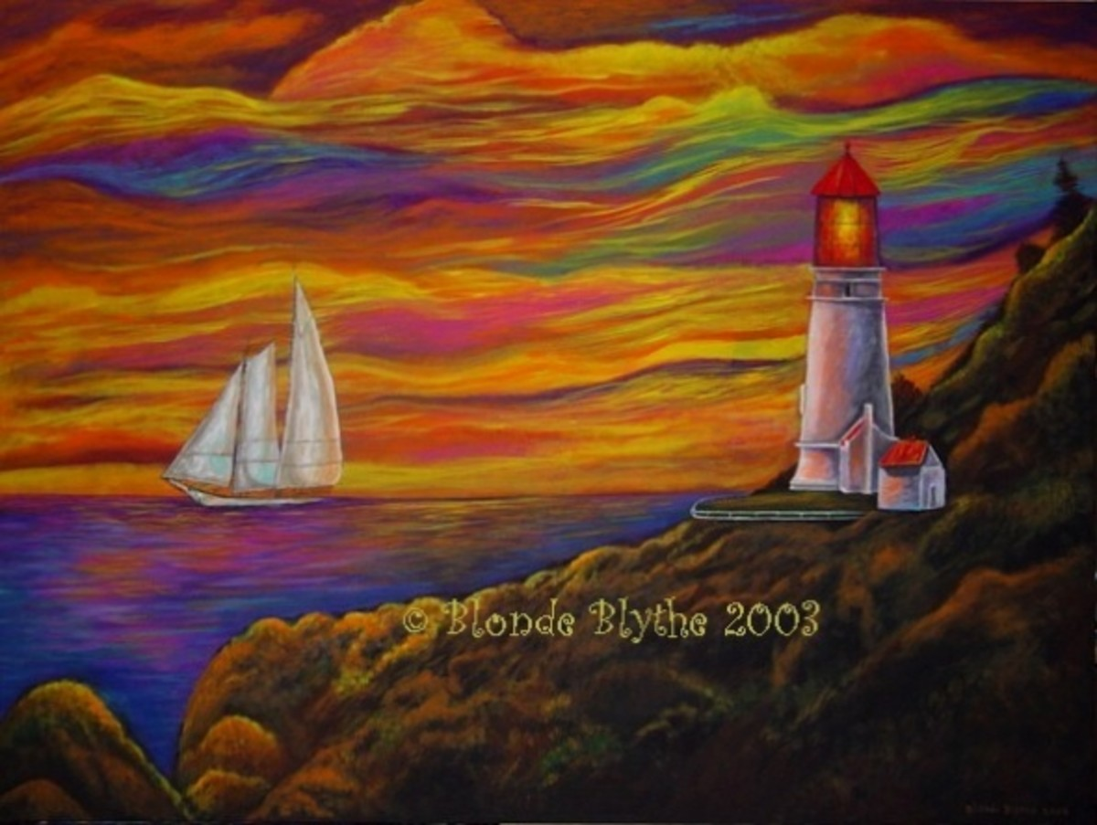 """Gordon's Lighthouse"" by Blonde Blythe 2003"