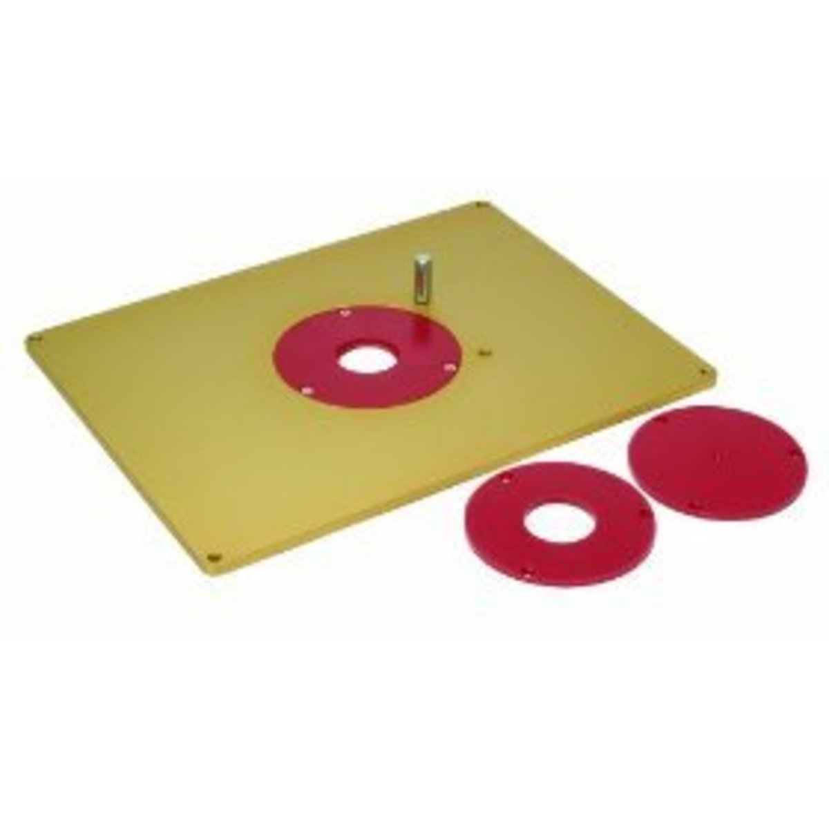 Router table insert plate sizes hubpages aluminum router plate greentooth Images