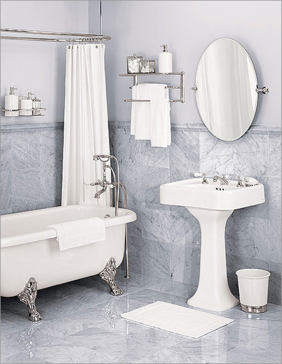 How to maximize space in a small bathroom hubpages for How to maximize small spaces