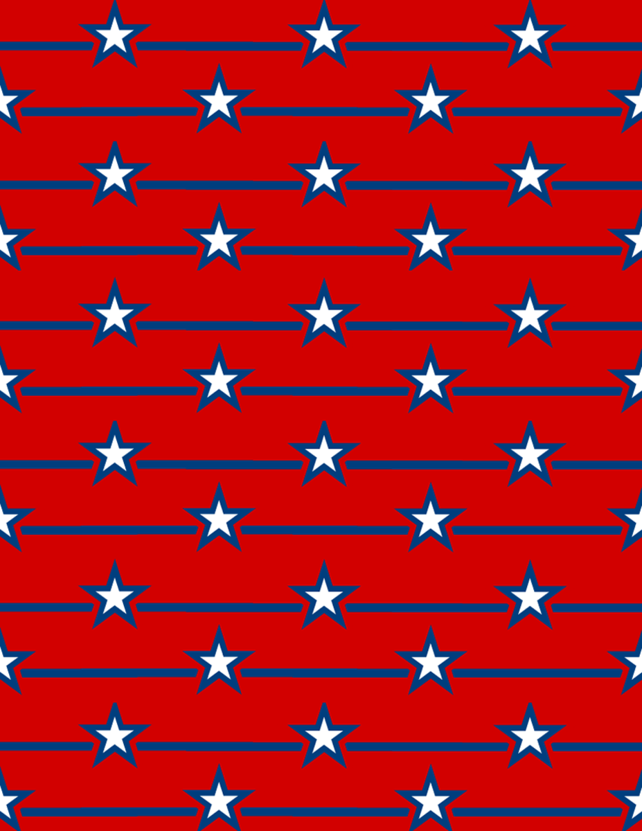 Military images: stars and bars on red background