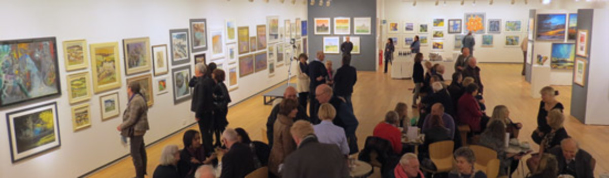 Annual exhibition of The Pastel Society at the Mall Galleries in London. I go every year!