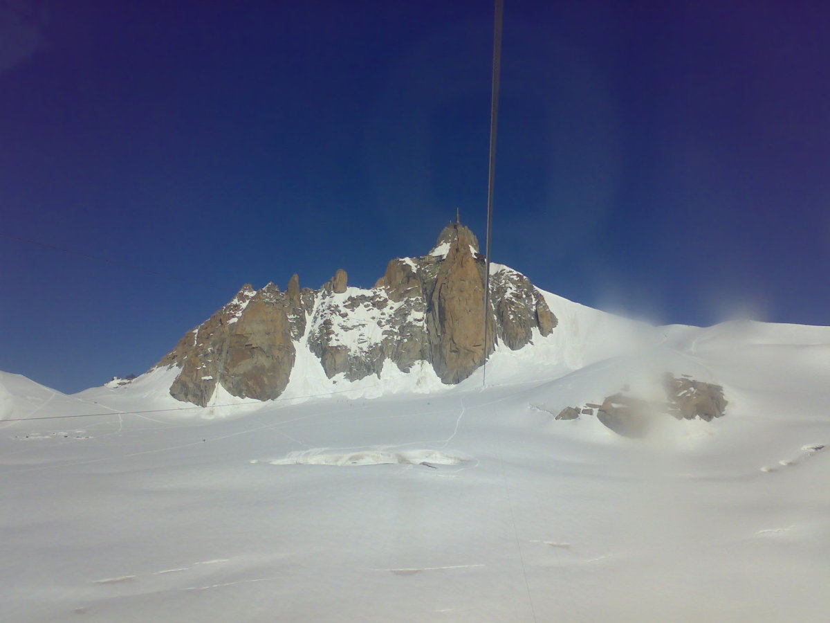 Aiguille Du Midi In The Distance