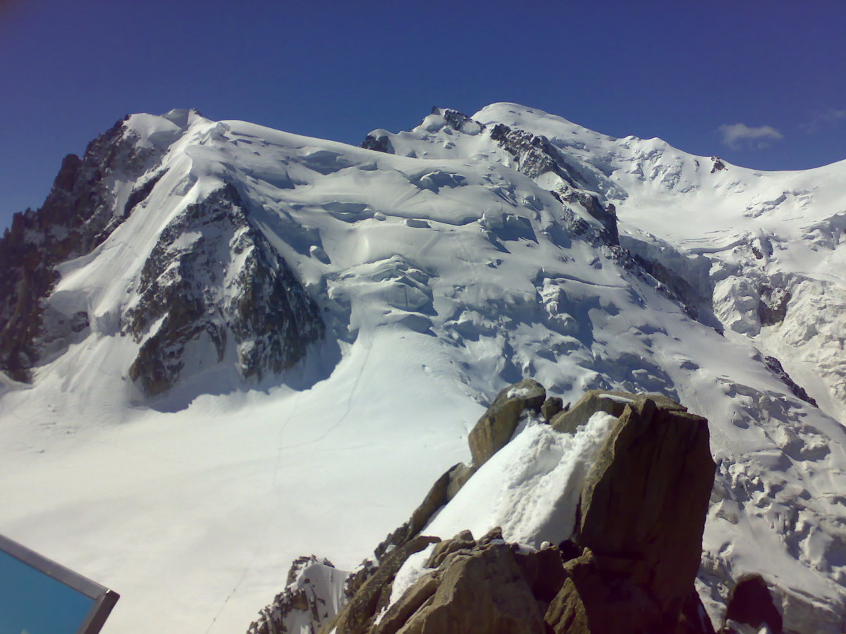 Mont Blanc Summit From Aiguille Du Midi