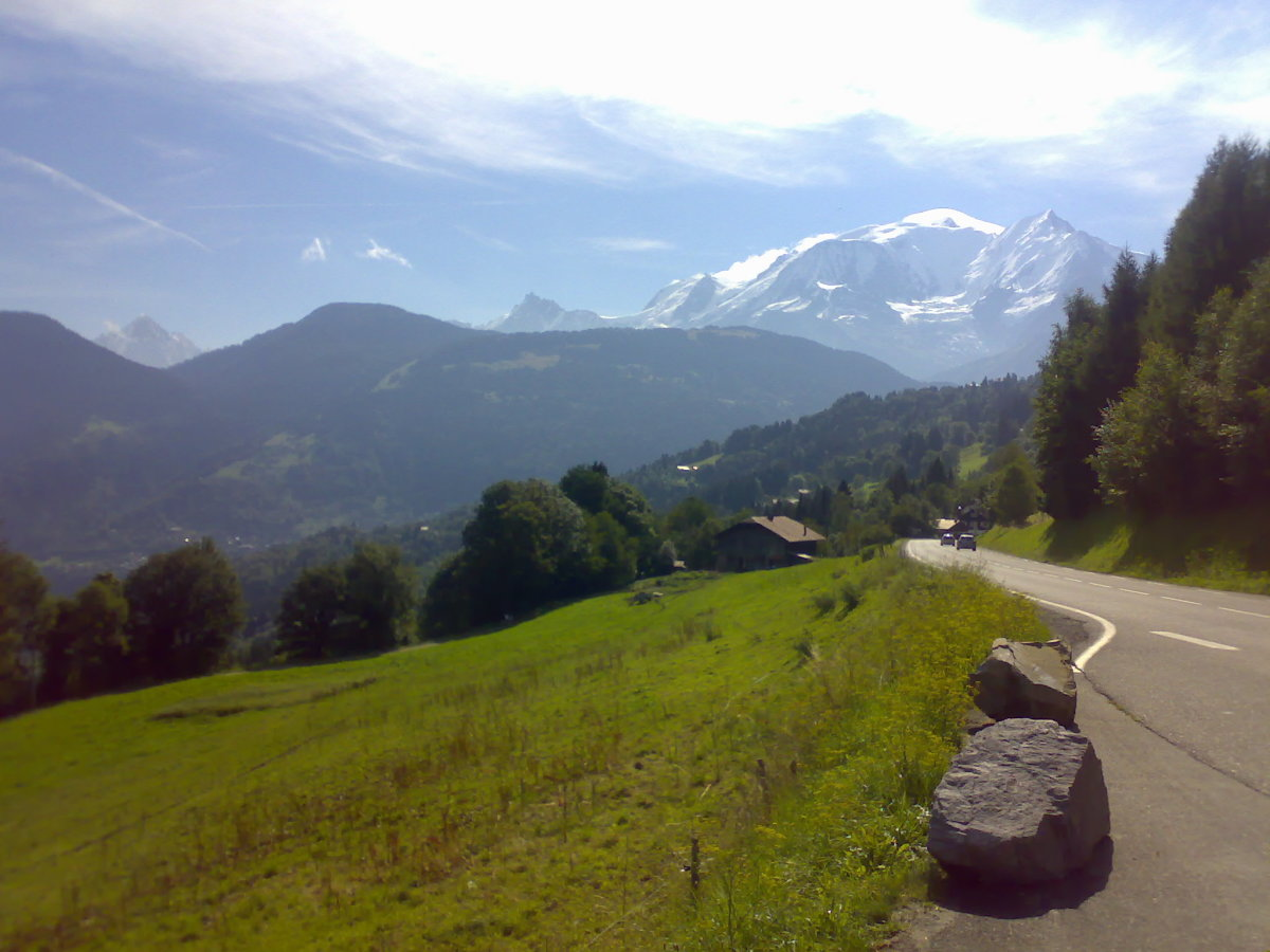 Mont Blanc Looms In The Distance