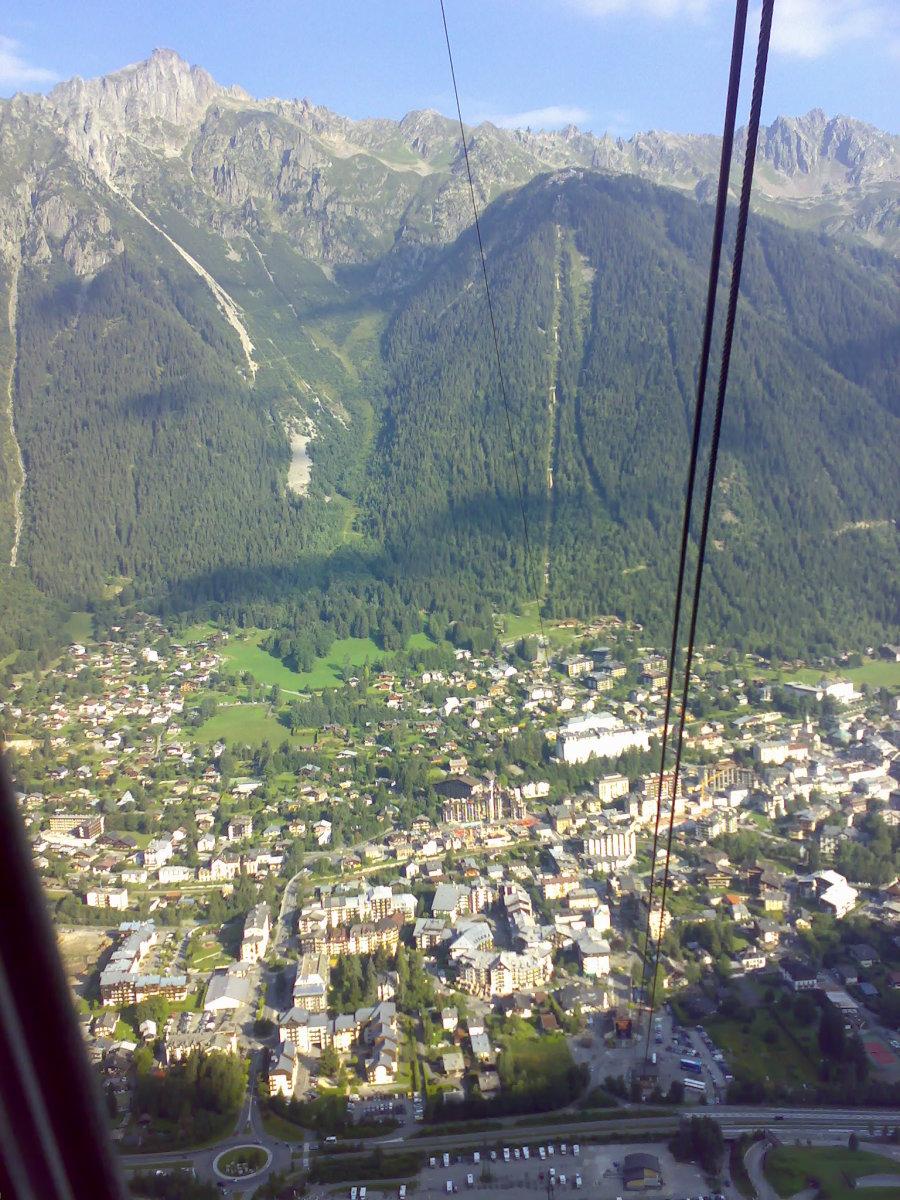 Chamonix Below As We Ascend