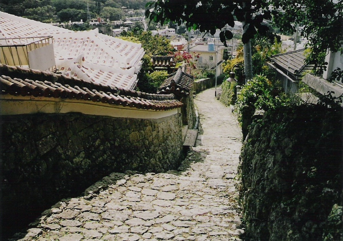 Ishidatami walkway leading up to, or down from, Shuri castle.