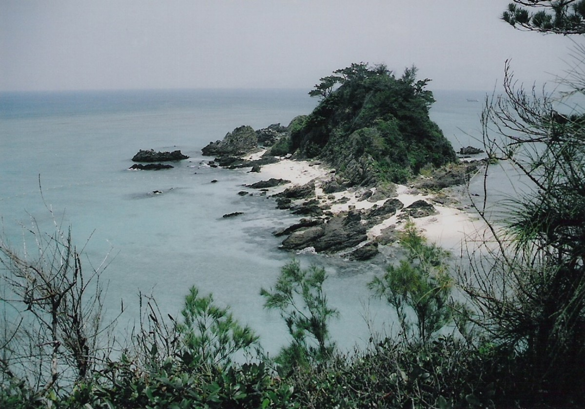 Kariyushi beach on Okinawa's west coast, or East China Sea.