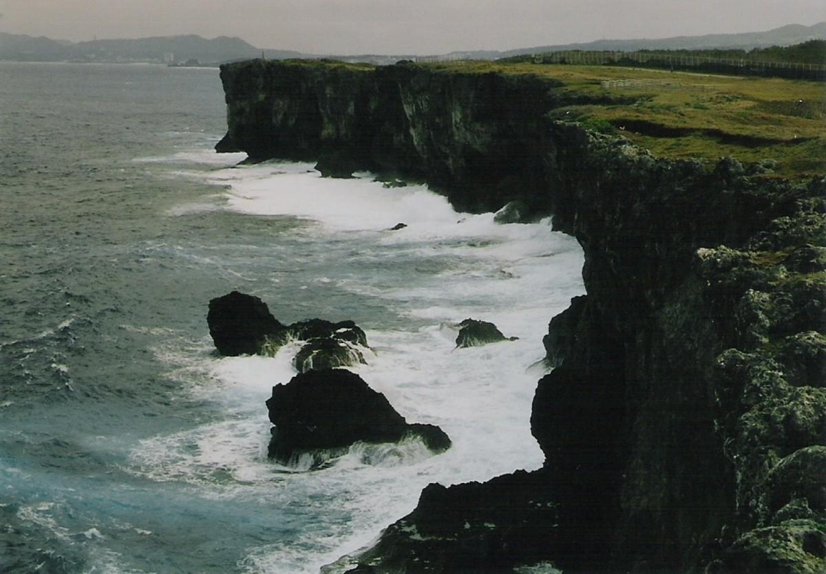 """Cape Zanpa (also spelled """"Zampa"""") located in central Okinawa on the East China Sea."""