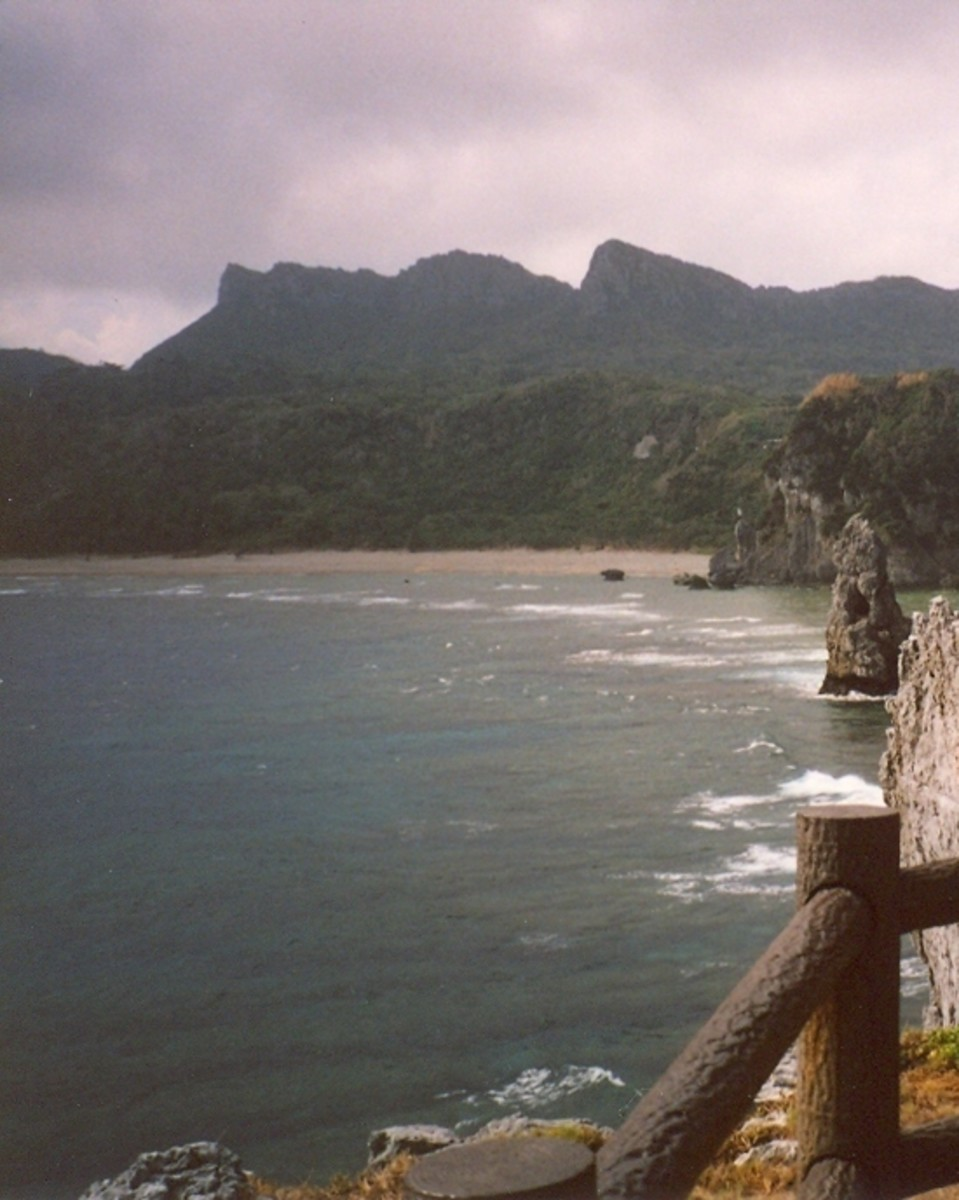 The rugged headlands of Cape Hedo.