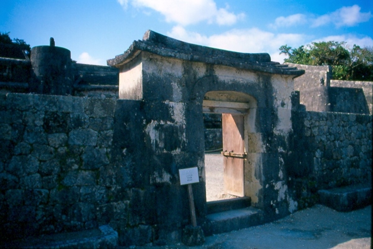 Tamaudan royal tombs.  Just down the road from Shuri castle.