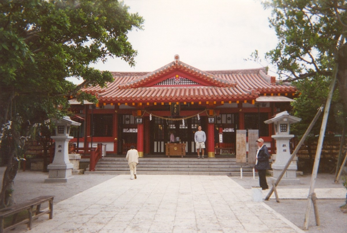The Naminoue shrine in Naha.
