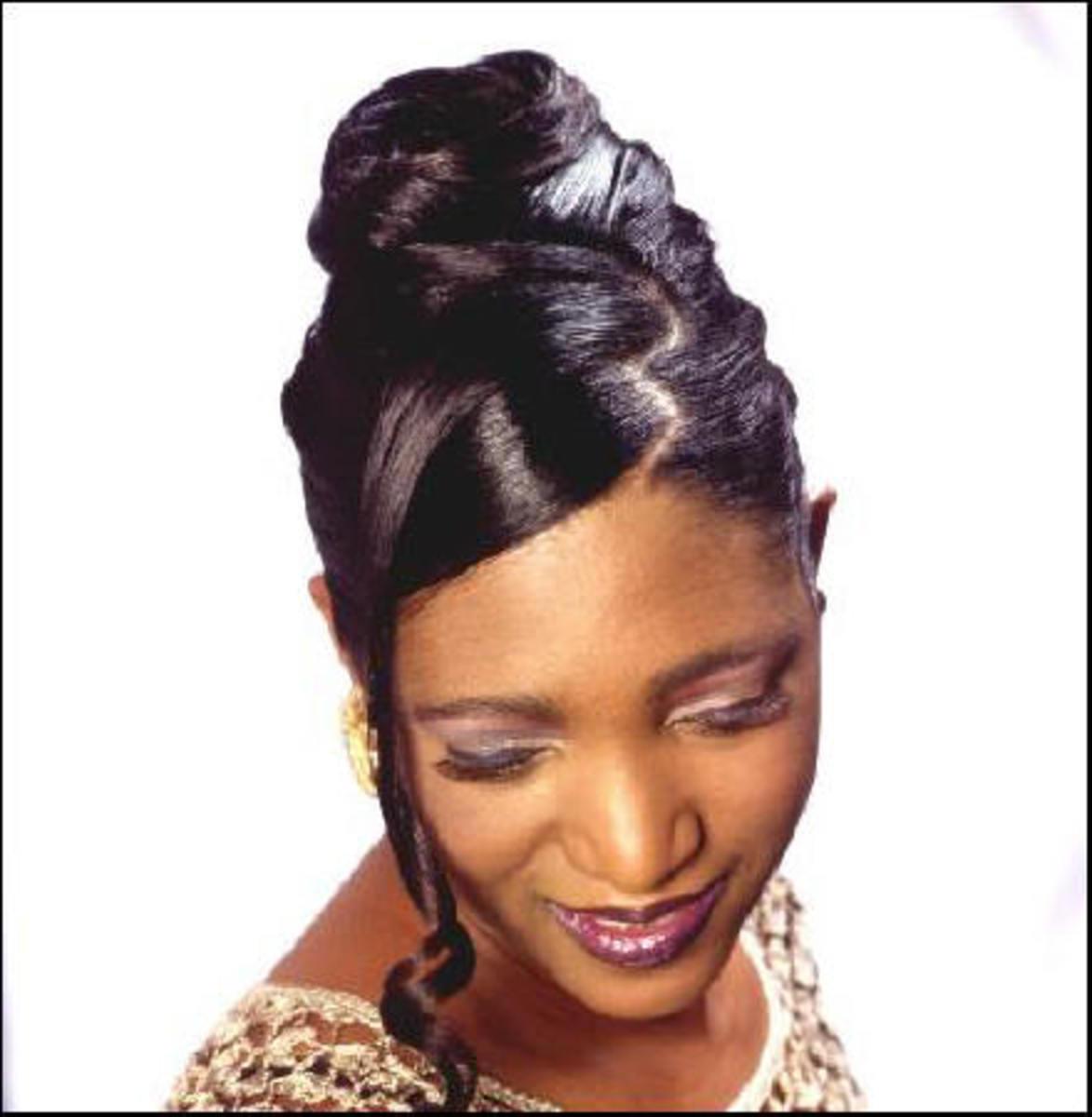 Black Wedding Hairstyles Updo
