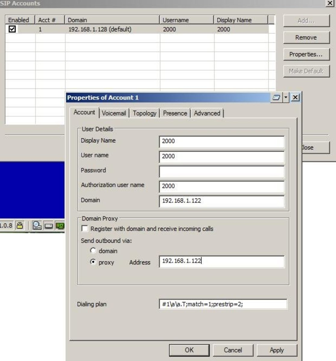 Installing Asterisk NOW and Configuring Soft Phones - Setup