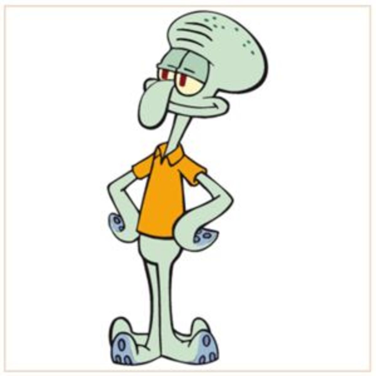 Squidward never met a mirror he didn't like!