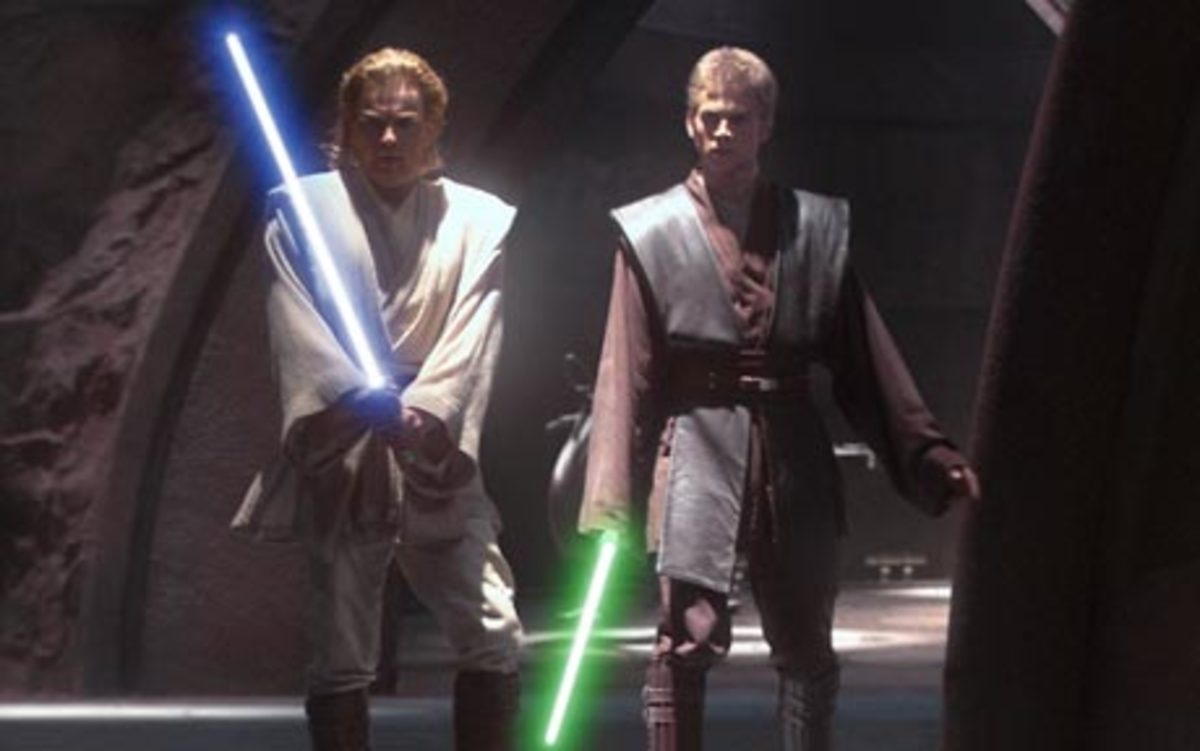 Eternally good and leaning toward the dark side.  Jedi costumes reveal the Jedi's true nature.