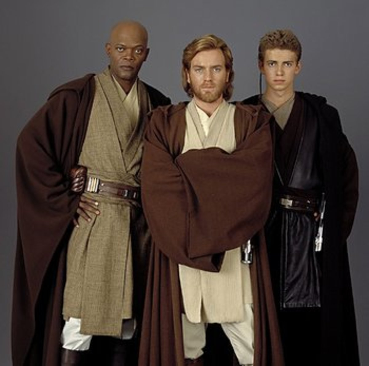 Various versions of the Jedi Costume