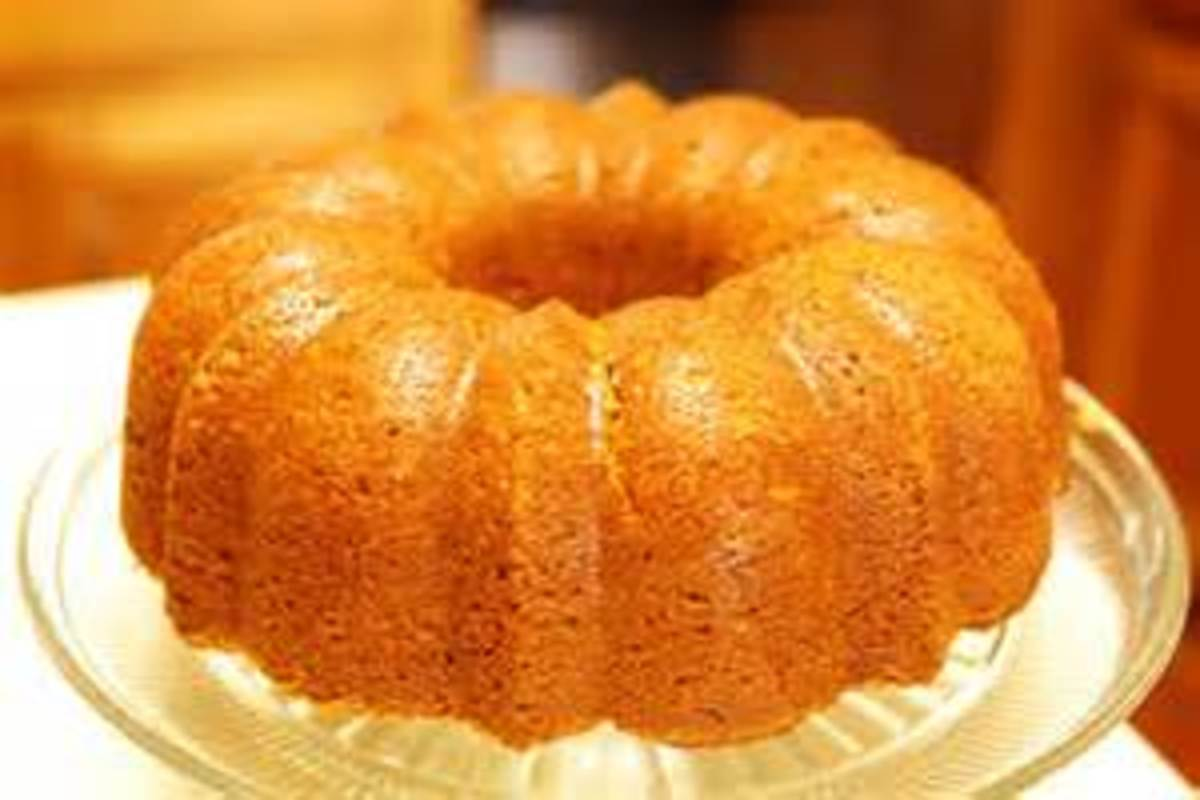 Pumpkin Bread baked in a Bundt Pan