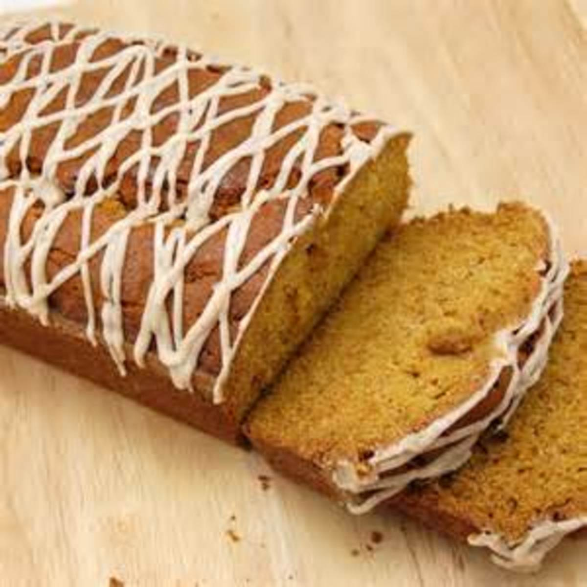 Pumpkin Bread with Drizzle Icing