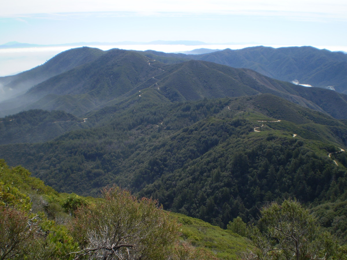 Santa Ana Mountains from Upper Holy Jim Trail.