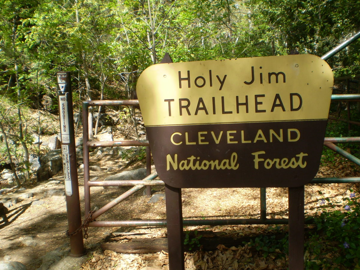 The Holy Jim Trailhead.