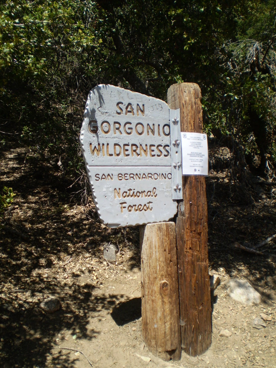 A Wilderness permit is required to enter the San Gorgonio Wilderness.