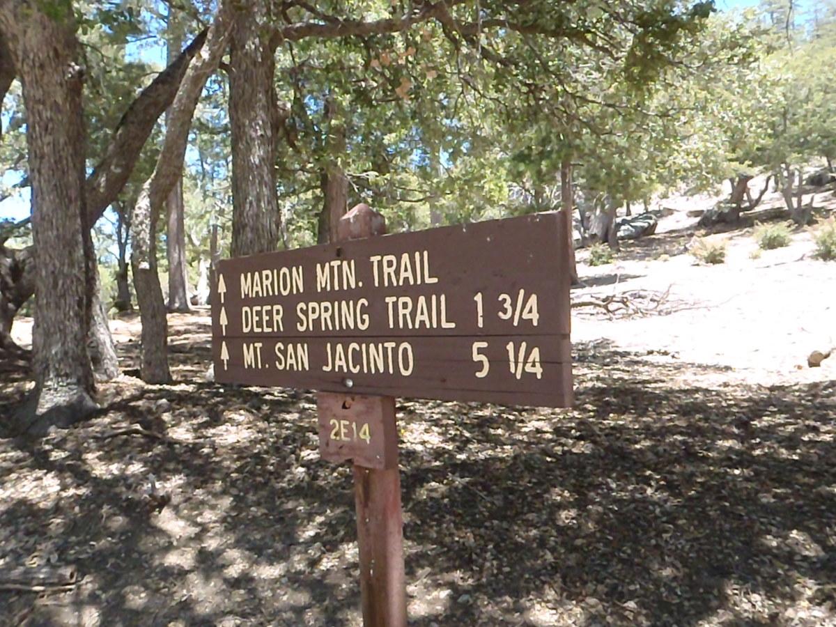 Marion Mountain Trailhead. Mount San Jacinto.