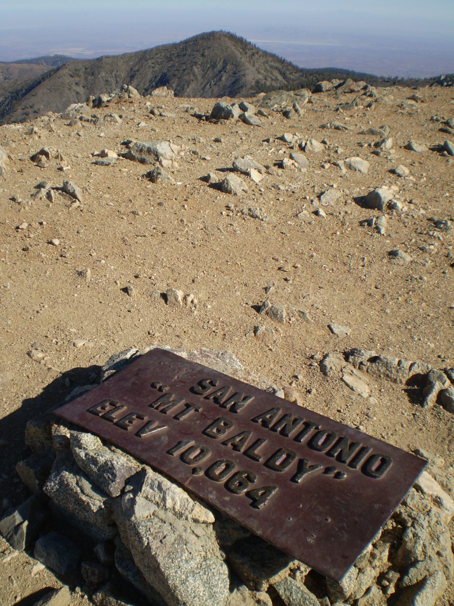 From the summit of Mt. Baldy.