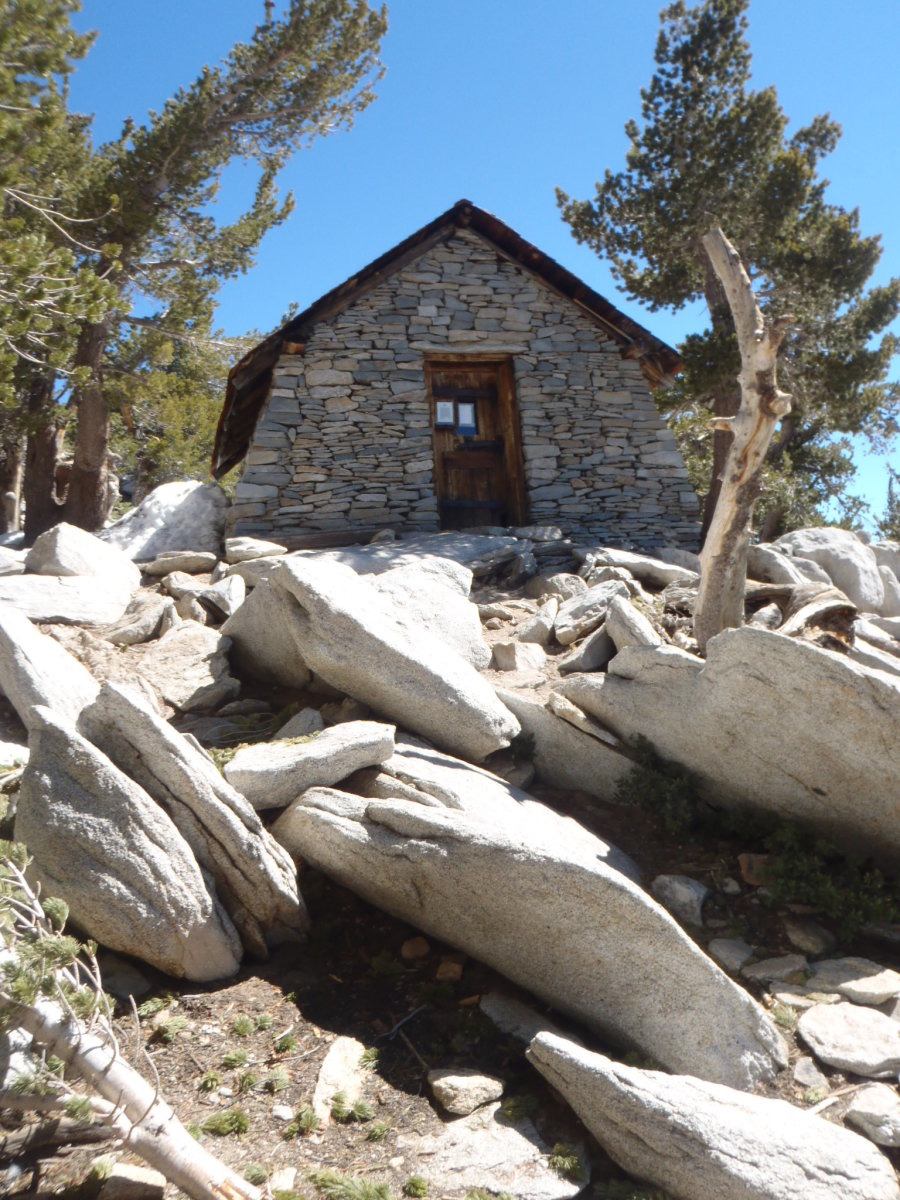 The emergency shelter near the summit of San Jacinto.