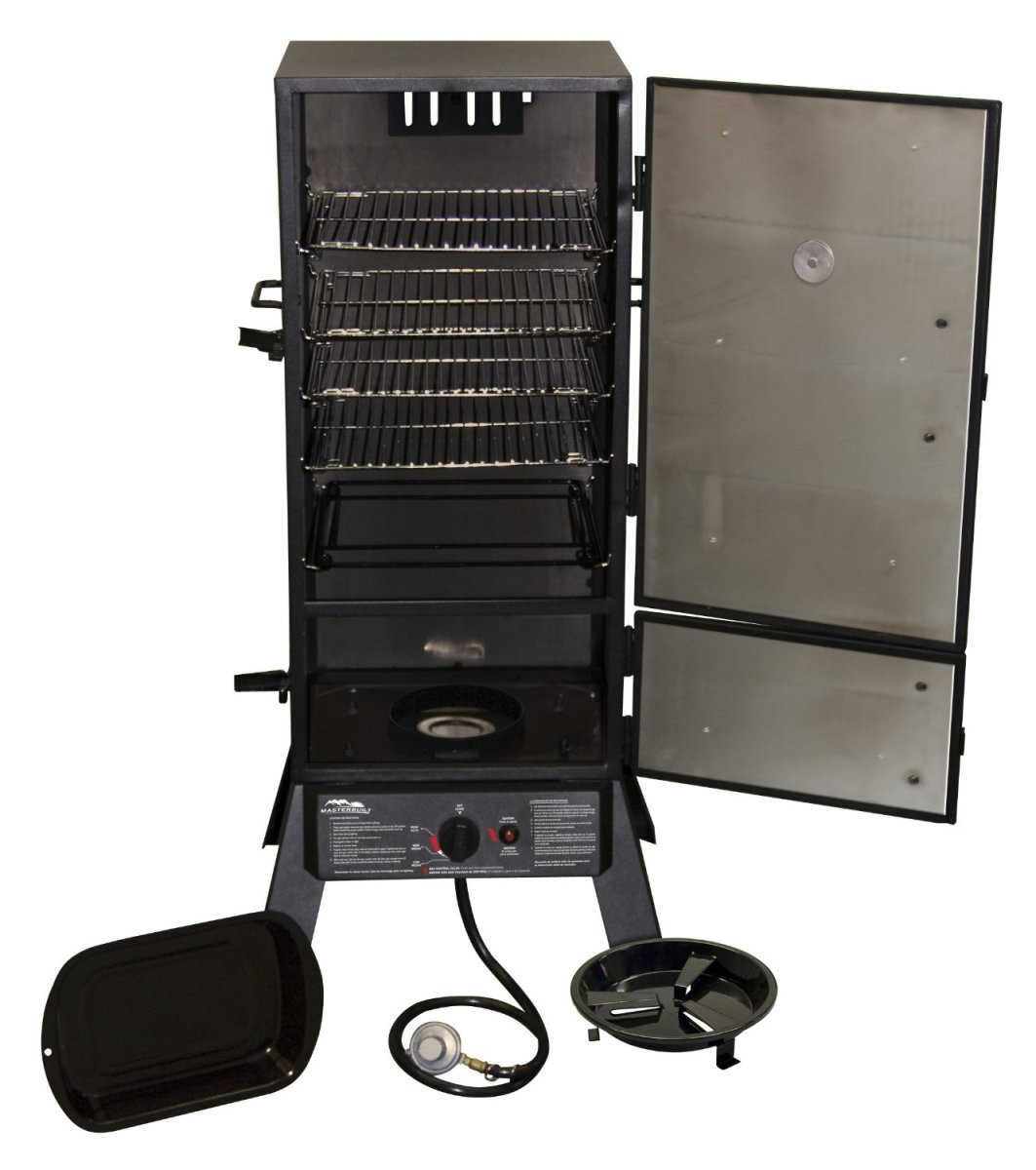 Vertical propane smoker grill from Masterbuilt.
