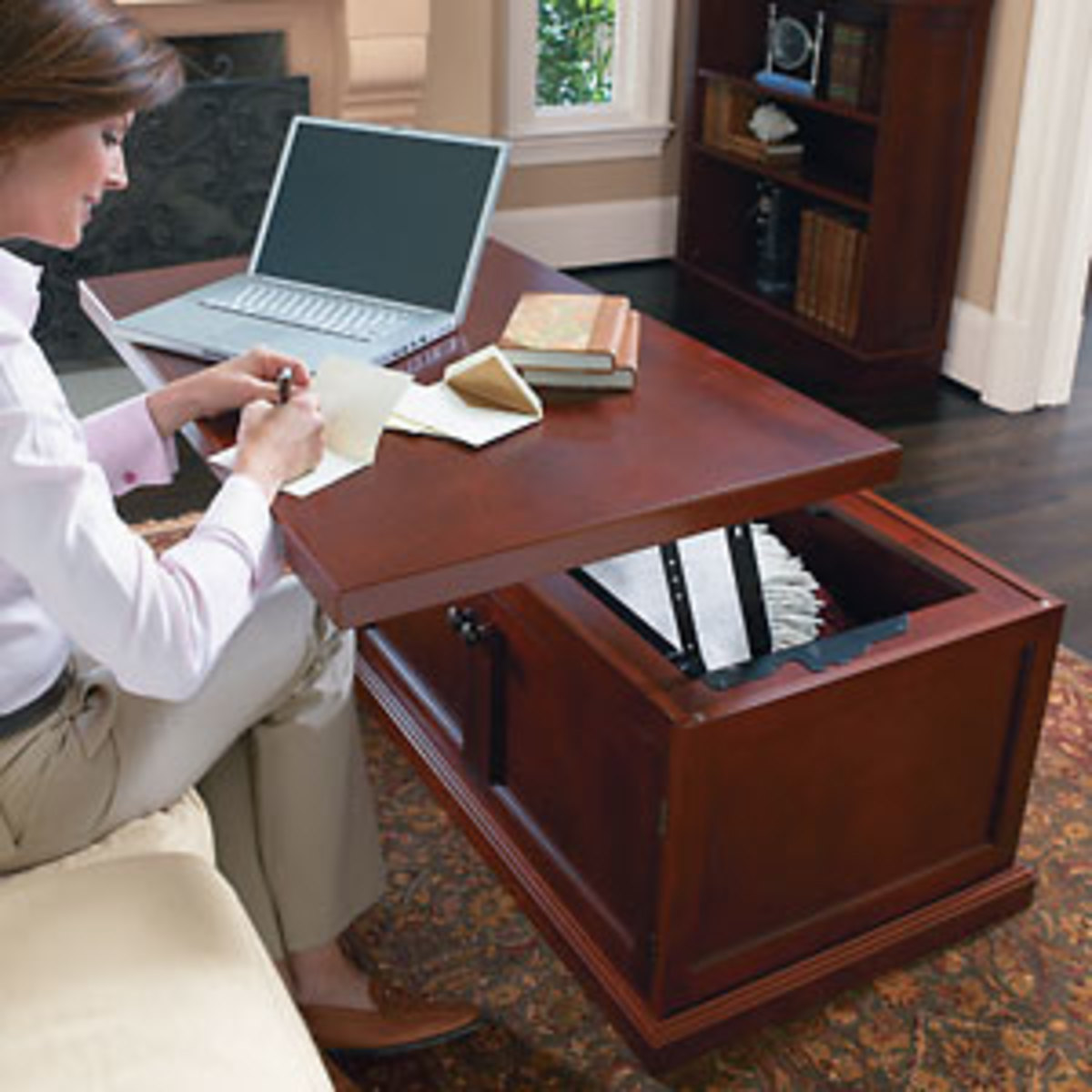 The Brookstone Lift Top Coffee Table
