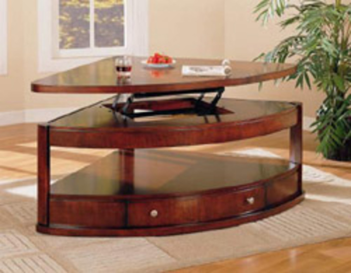 Corner Lift Top Coffee Table