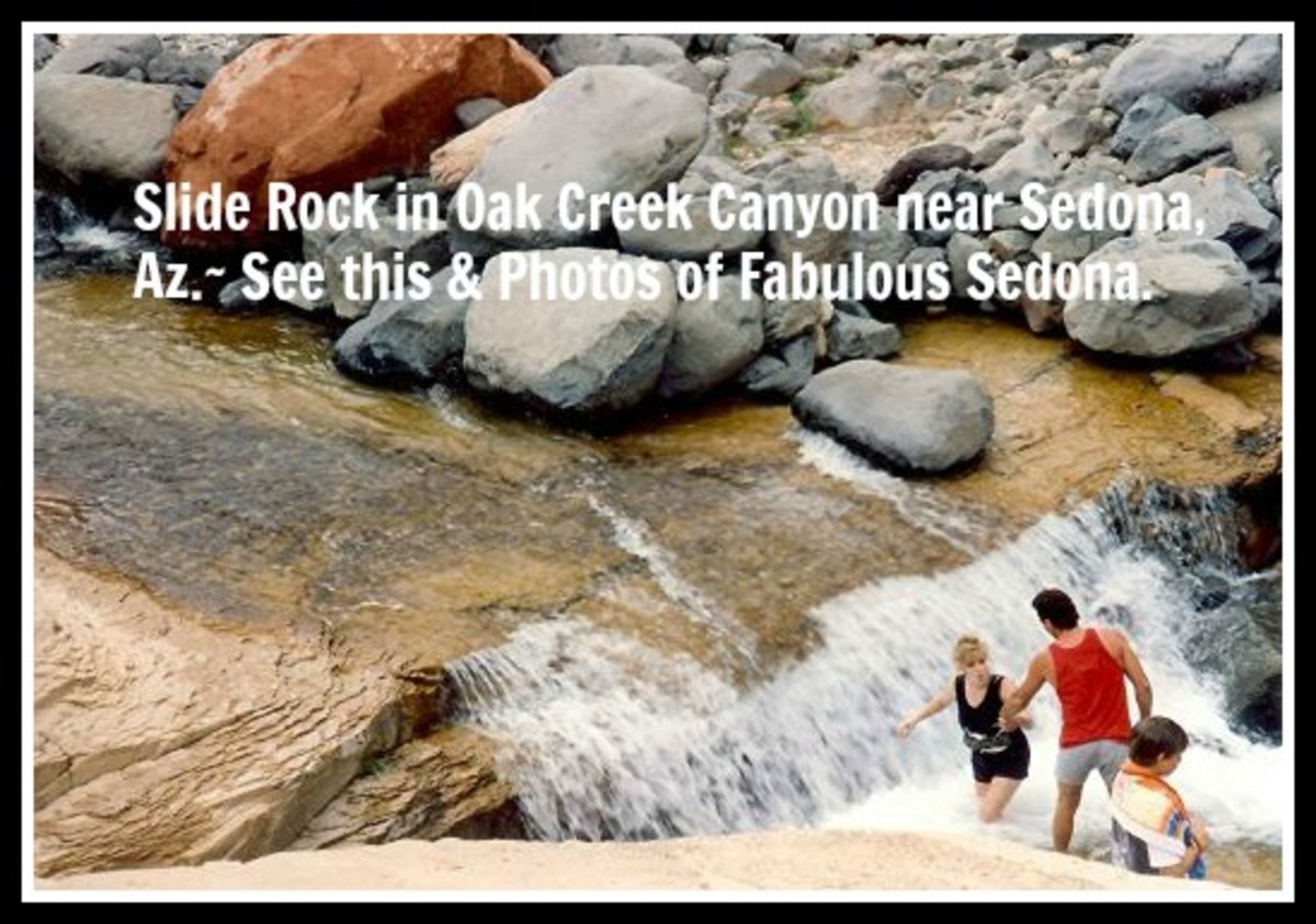 Visiting the Fabulous Oak Creek Canyon, Slide Rock State Park and Sedona, Arizona