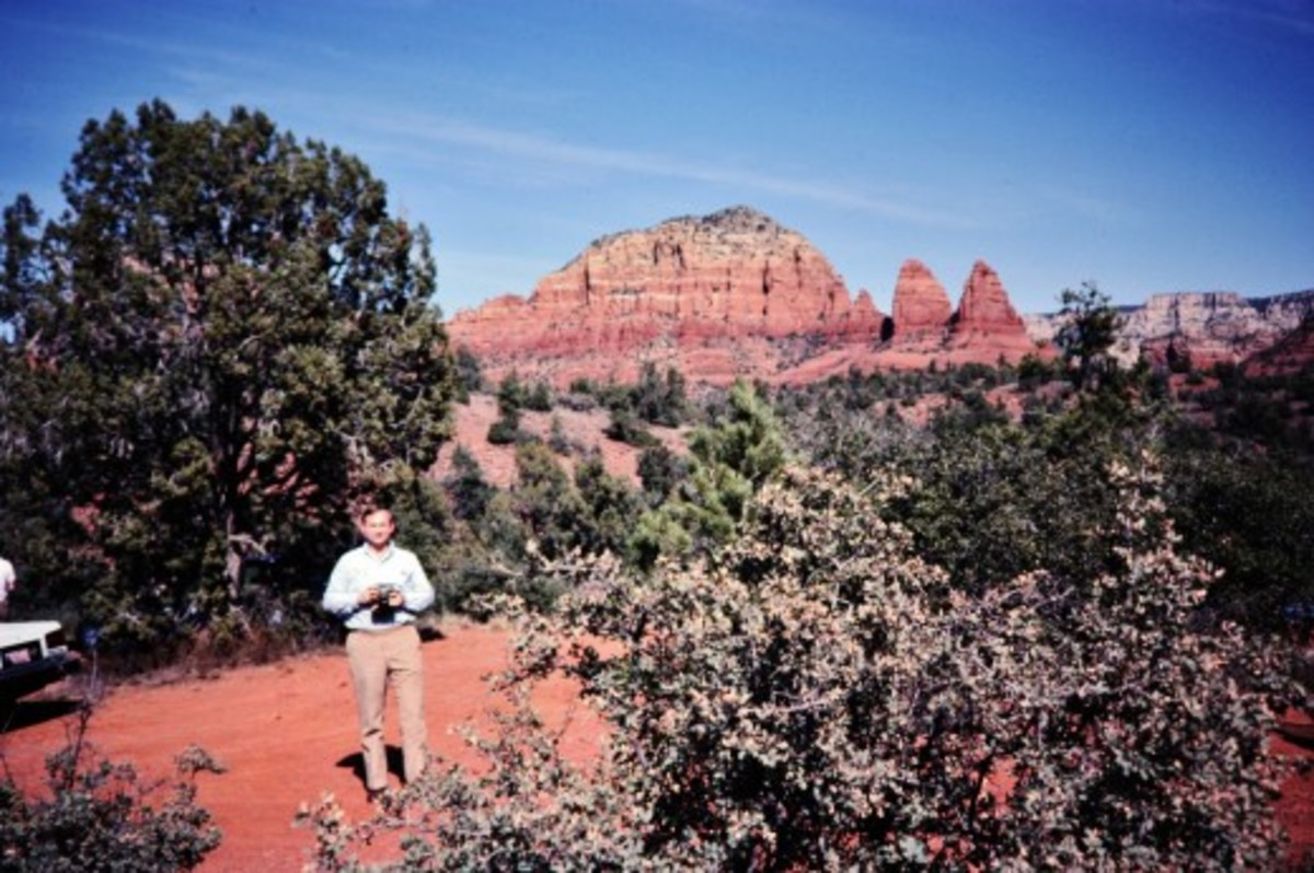 My hubby in Sedona area