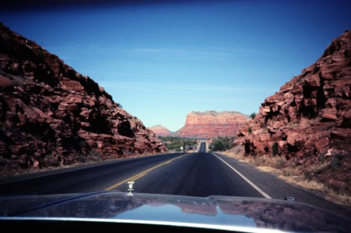 Scenery around Sedona - Photo taken from moving car.