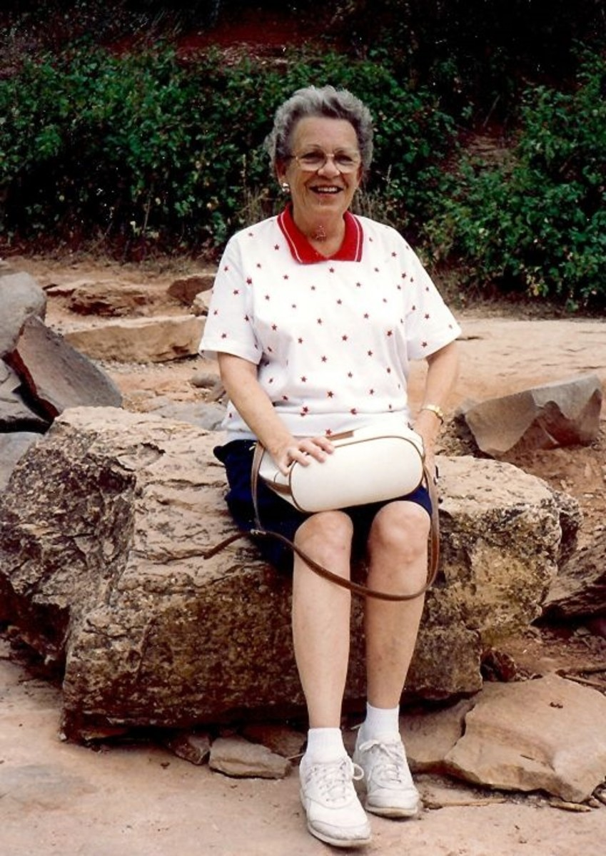 My mother in Oak Creek Canyon