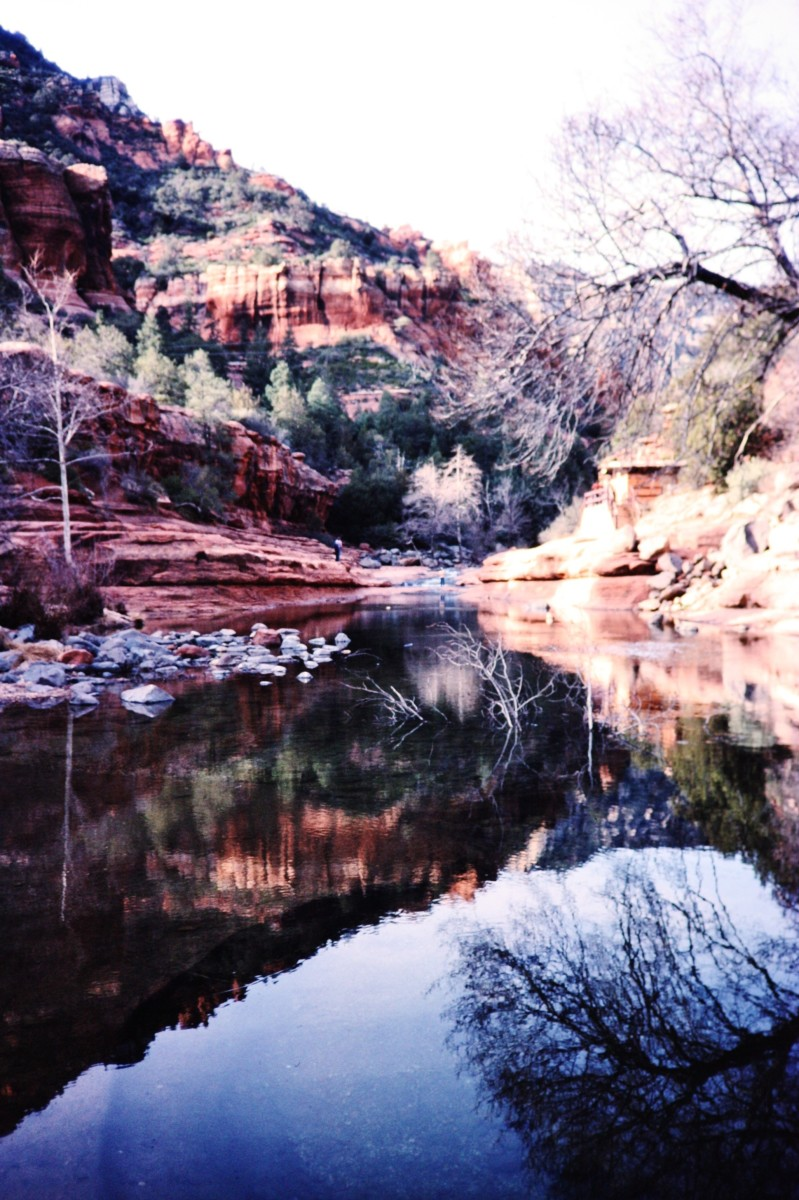 Slide Rock area in beautiful Oak Creek Canyon, Arizona