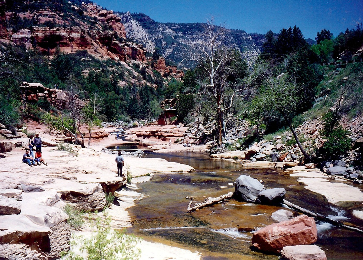 Slide Rock area in Oak Creek Canyon