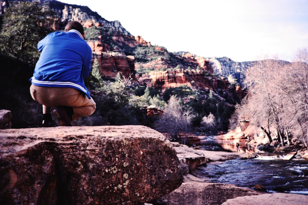 Slide Rock area - My husband taking photos.