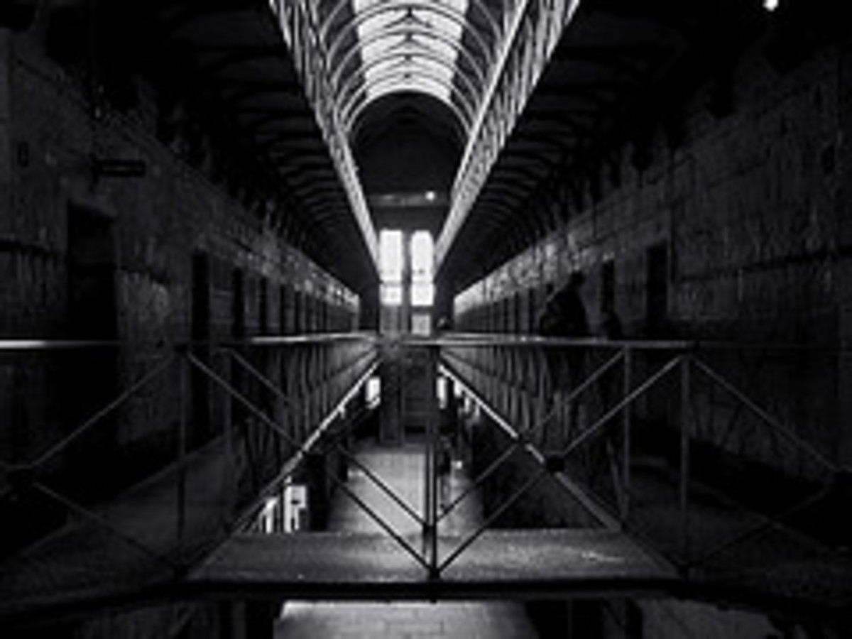 The interior of Old Melbourne Jail.