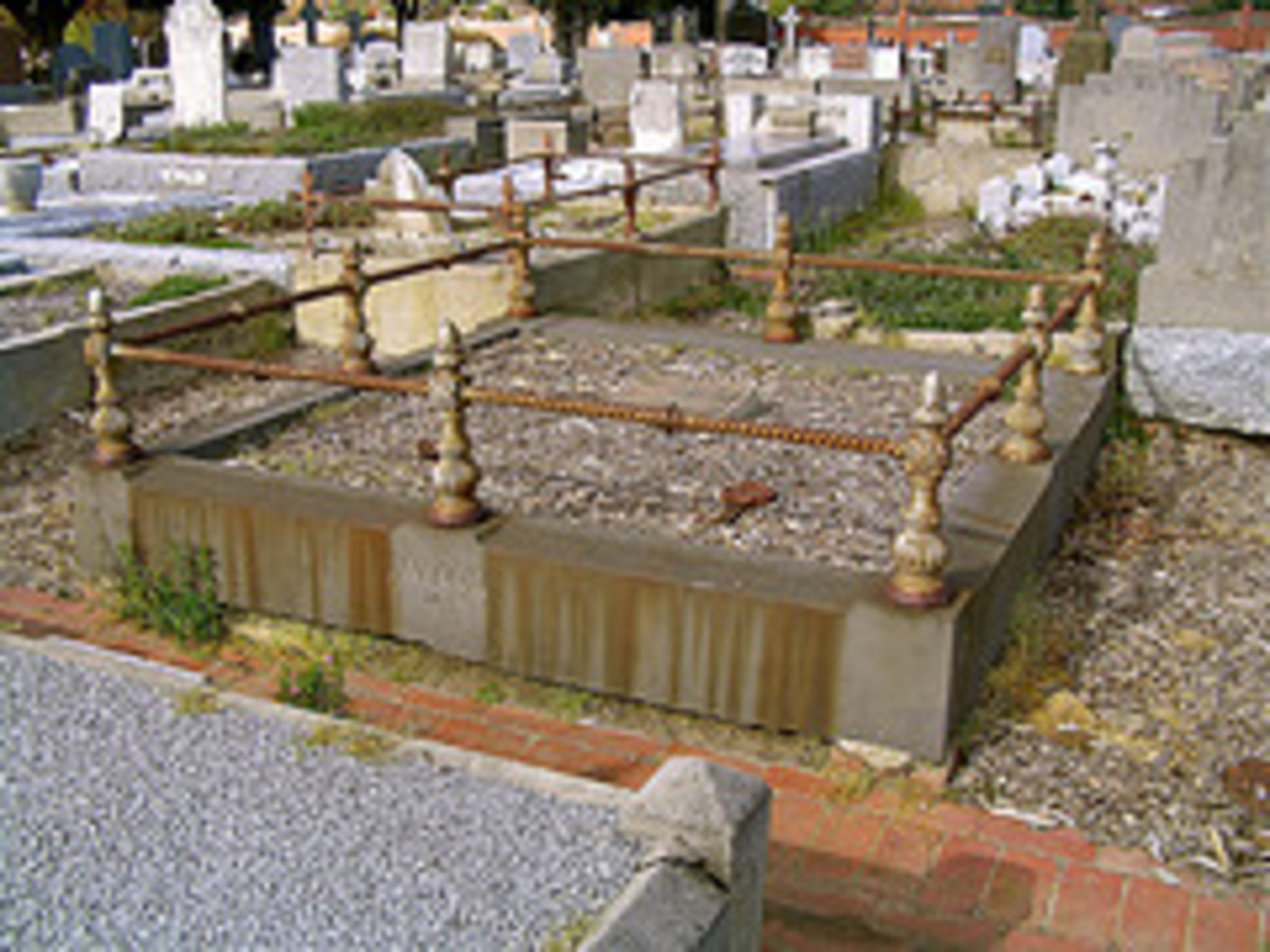 The grave of Squizzy Taylor.